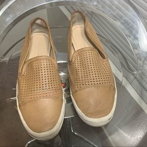 Calvin Klein leather slip-ons